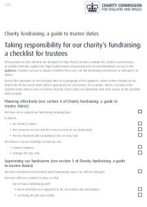 Trustee fundraising check list - image and link